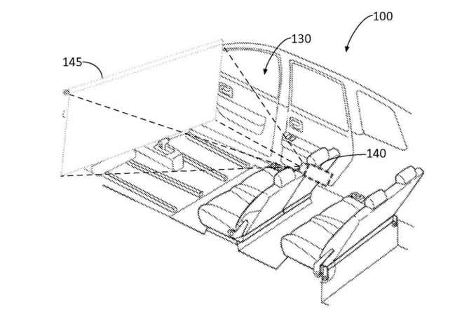 Ford has patented a design for a windshield cinema screen for autonomous vehicles