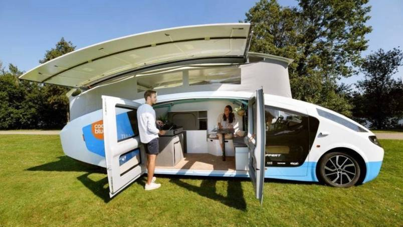 solar-powered vehicle a camper van