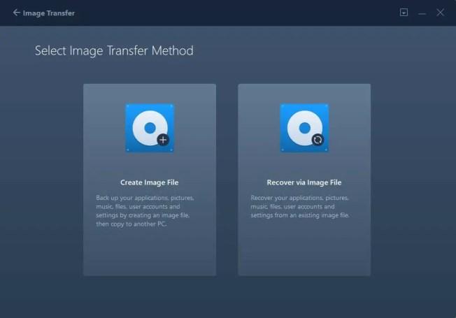 Image transfer method