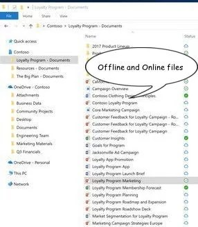 OneDrive offline and online files 10