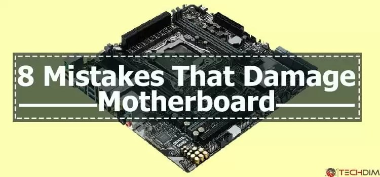 A Damaged Motherboard