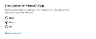 Smart Screen of Windows 10