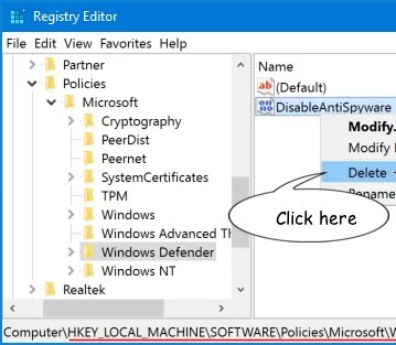 DisableAntiSpyware