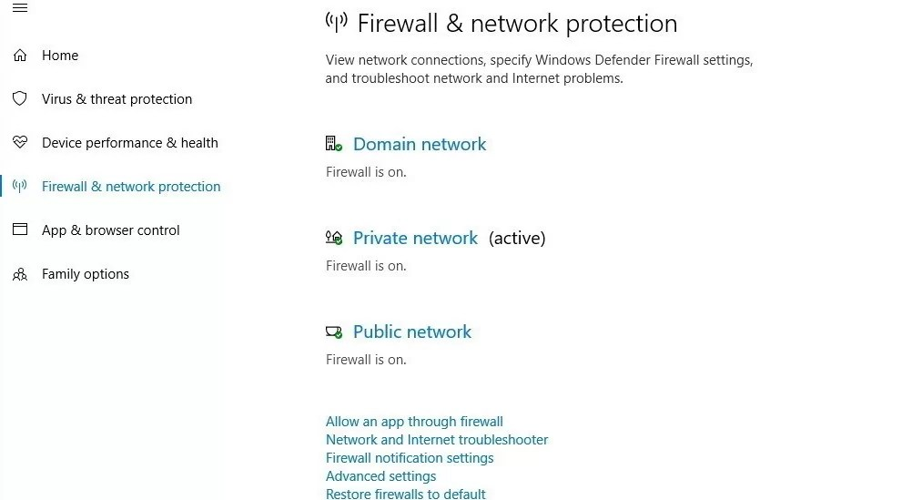 Firewall network protection