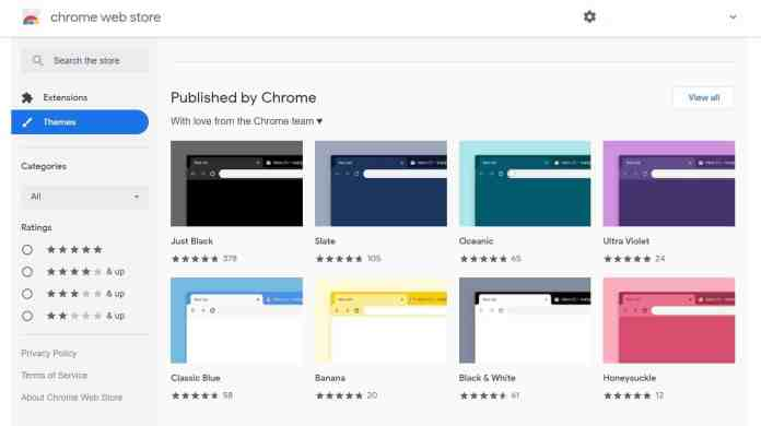 Chrome's New Themes