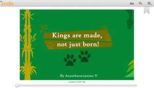 Kings are made not just born ebook cover page