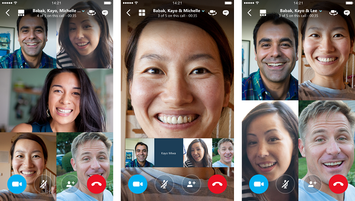 Skype Group Video calling now availble for iOS and Android users