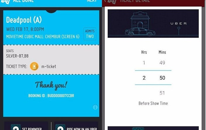 You can now book an Uber to watch Cinema via BookMyShow