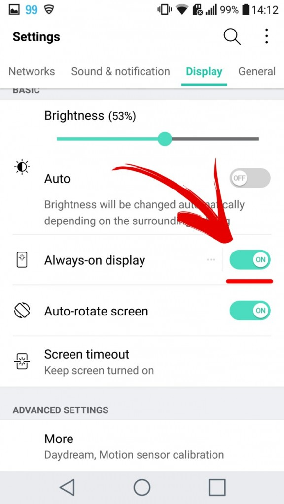 How to disable Always on display in LG G5