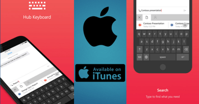 Microsoft Hub Keyboard, now available for iOS devices