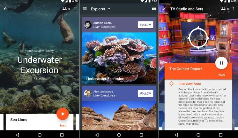 Google Expeditions VR Android app