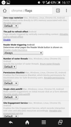 reader mode in Chrome Browser