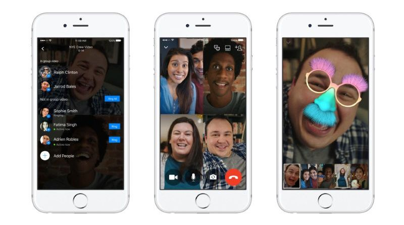Group Video calling in Facebook Messenger