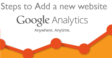 Steps to add a new website in Google Analytics