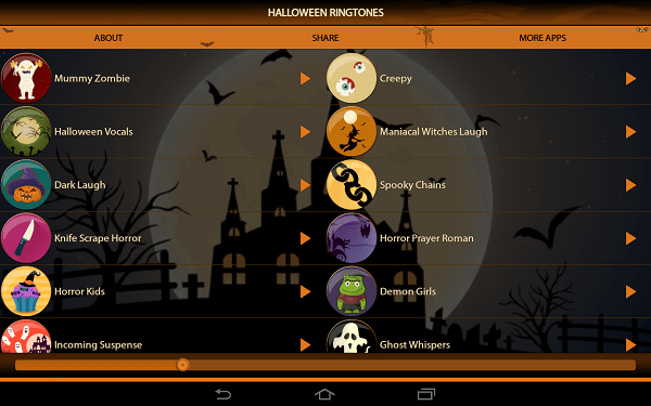 top and best Android Halloween apps