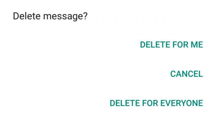how to recall message on Whatsapp