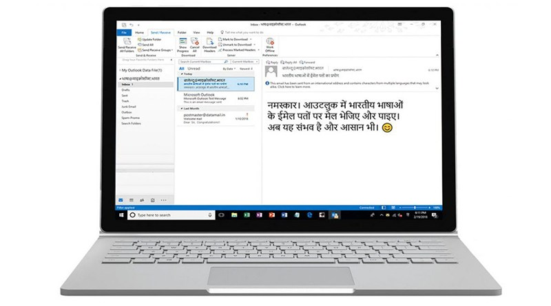 Microsoft introduces Support for 15 Indian Languages in Email Addresses