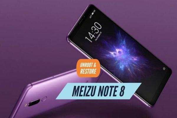 Unroot Meizu Note 8 Restore Stock ROM