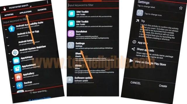 quick shortcut maker settings huawei