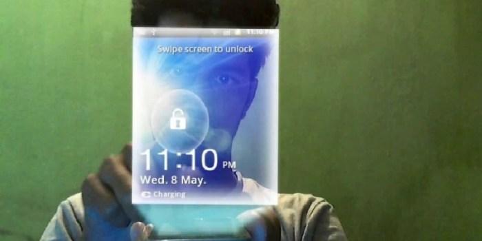 Smartphone imagem holográfica 3D