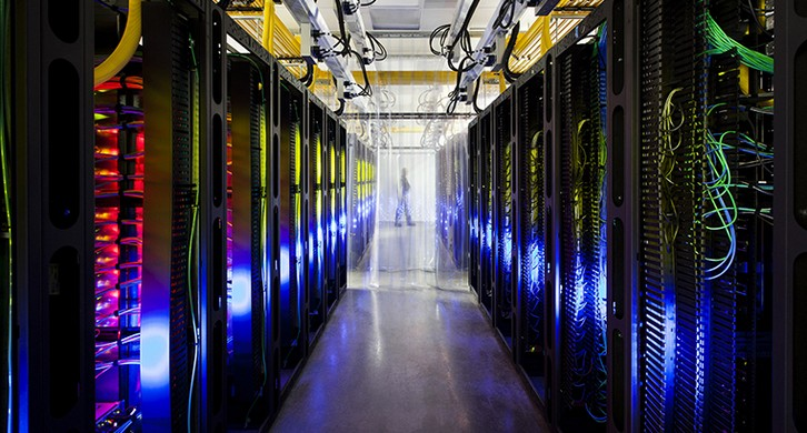 Entre num Cloud Data Center do Google
