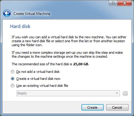 Criar disco virtual