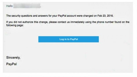 Paypal Log in