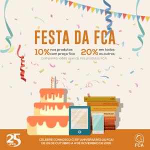 25 anos FCA: Aproveite os descontos do aniversário