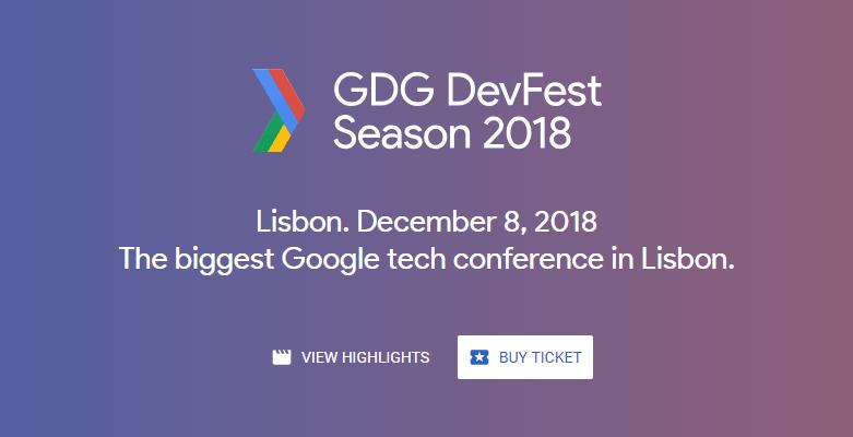 DevFest Lisboa'18 regressa já a 8 de Dezembro