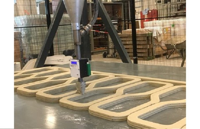 A 3D Printed Bridge is Being Built Using Reinforced Concrete