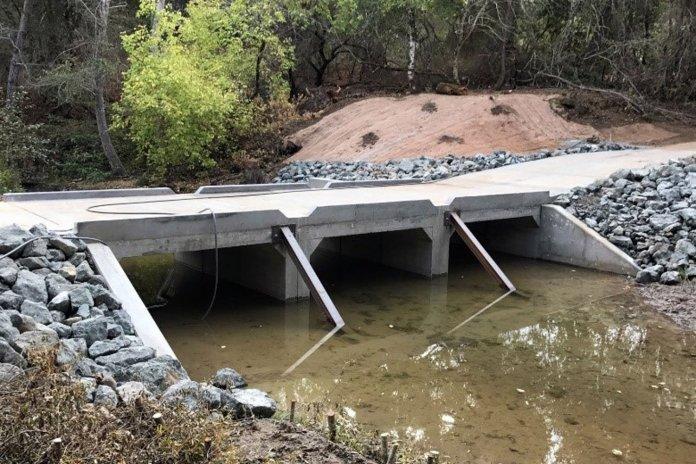 Modifications improve fish passage on San Francisquito Creek