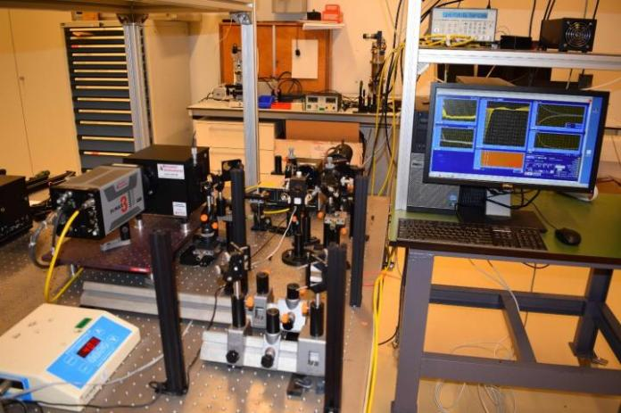 The optical equipment that was used to make the first discovery that ITI in fact works. CREDIT Wybren Jan Buma, University of Amsterdam