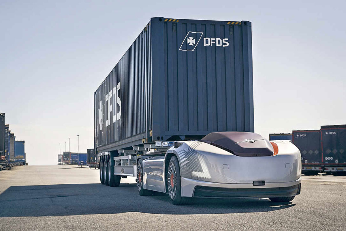 Volvo Trucks' electric, self-driving truck 'Vera' gets its first job