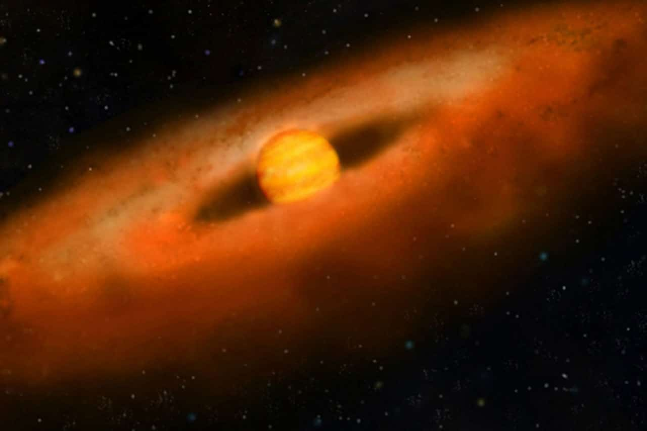 Closest young brown dwarf disk spotted