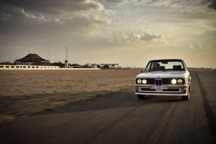 The restored BMW 530 MLE returns home