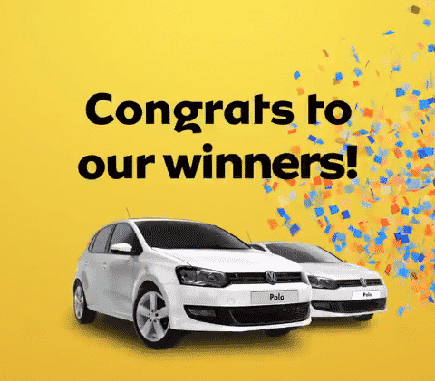 First two MTN CakeCrush Competition winners drive away with VW Polo Vivos