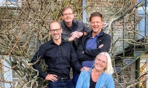 KNF Ventures Co-Founders and Partners: Keet van Zyl, Eben van Heerden, Bob Skinstad, Andrea Bohmert