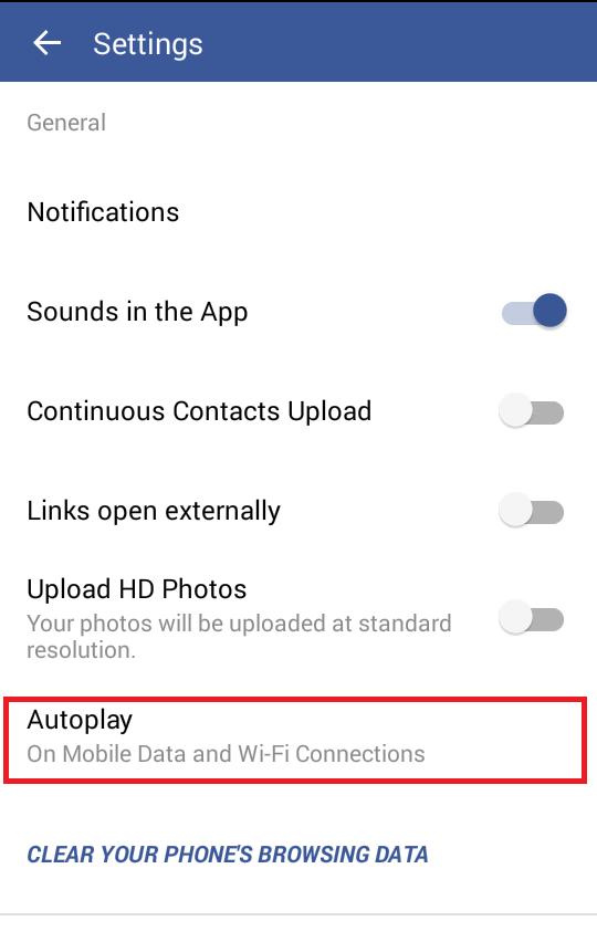 turn off sounds in facebook app android