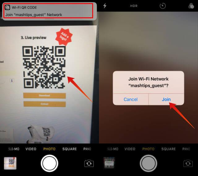 share wifi password iphone