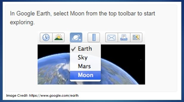How to Take The Tour of Moon in Google Earth