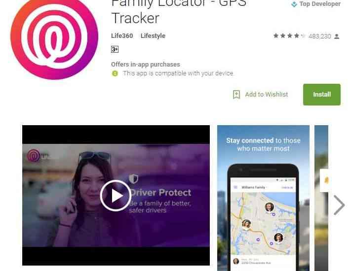 Family Locator GPS tracker