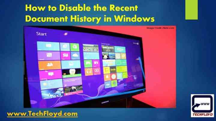 disable-the-recent-document-history-windows
