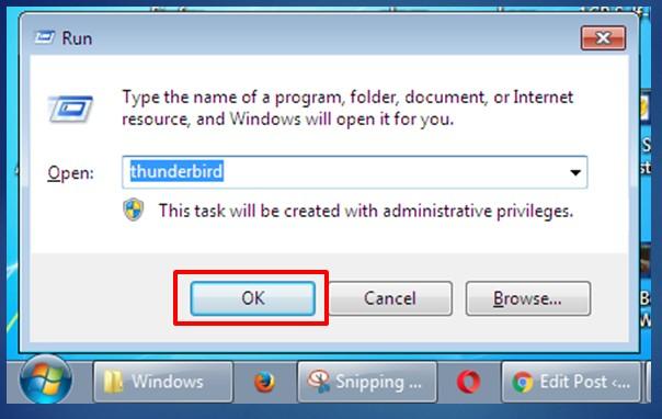 move the create shortcut to the Windows Folder