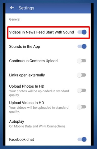 How to Stop Facebook Auto Play Video Sound on Android
