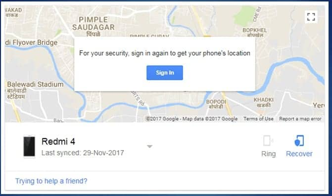 Find Your Phone-: (Android Device Manager)