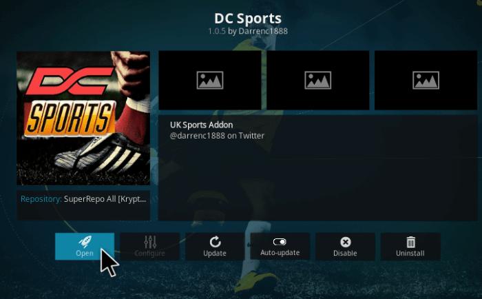 DC Sports Addon
