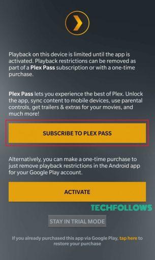 Plex App on Android