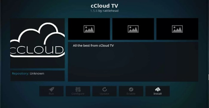 cCloud TV Kodi Addon