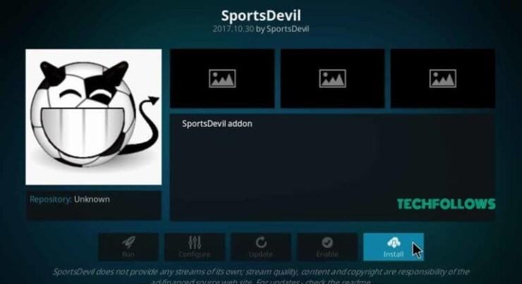 SportsDevil Addon