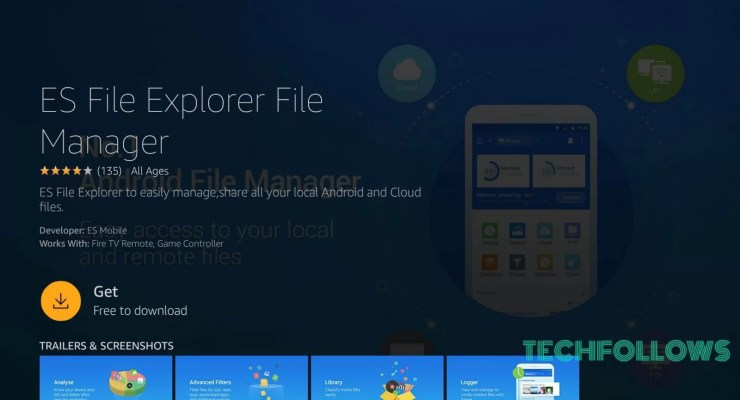 ES File Explorer for Firestick